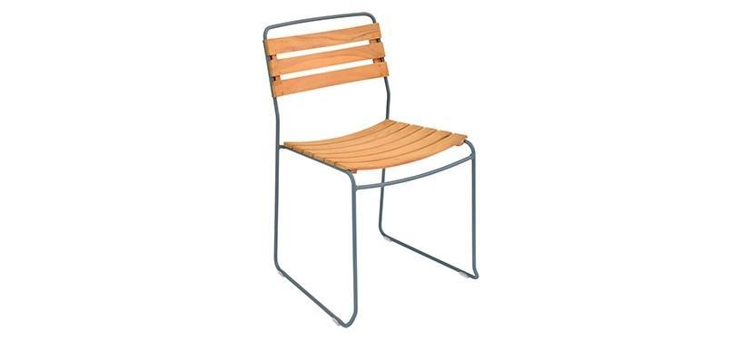 Fermob Surprising Teak Chair · Storm Grey