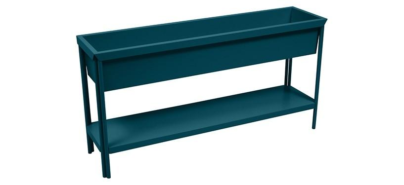 Fermob Terrazza Medium Planter · Acapulco Blue