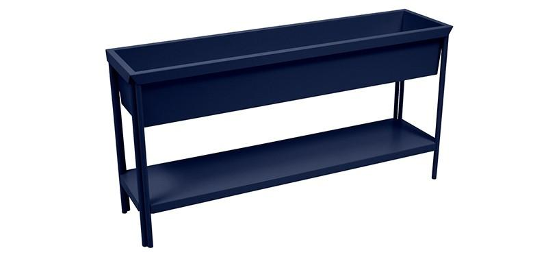 Fermob Terrazza Medium Planter · Deep Blue