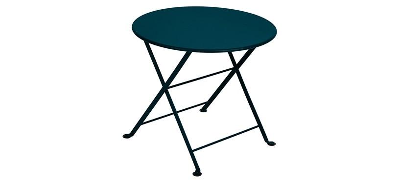 Fermob Tom Pouce Low Table · Ø 55 · Acapulco Blue