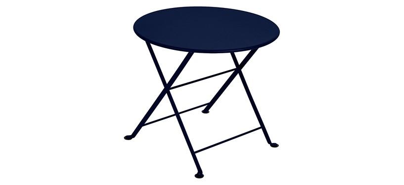 Fermob Tom Pouce Low Table · Ø 55 · Deep Blue