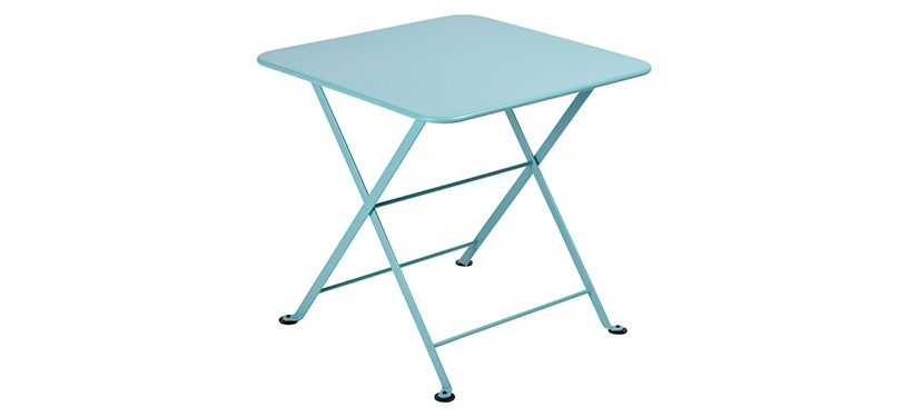 Fermob Tom Pouce Low Table · 50 x 50 · Lagoon Blue