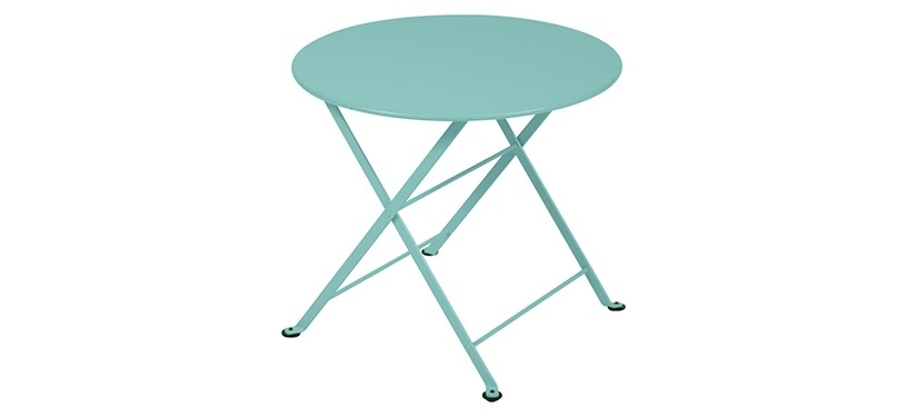 Fermob Tom Pouce Low Table · Ø 55 · Lagoon Blue