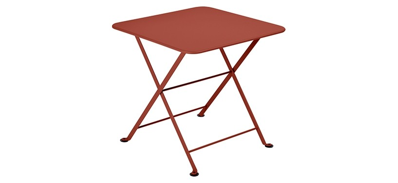 Fermob Tom Pouce Low Table · 50 x 50 · Red Ochre