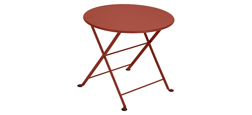 Fermob Tom Pouce Low Table · Ø 55 · Red Ochre