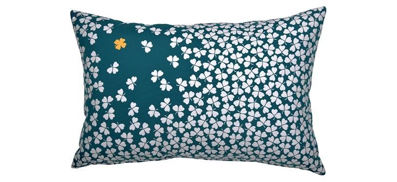 Fermob Tréfle Cushion 3 · Duck Blue