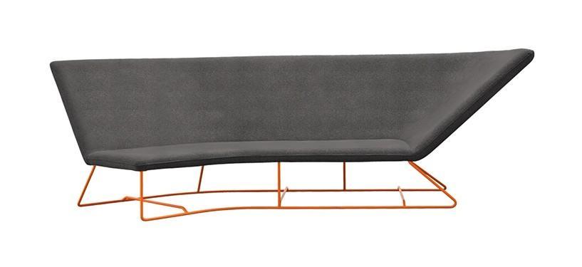 Fermob Ultrasofa Sofa · Carrot/Iris Green
