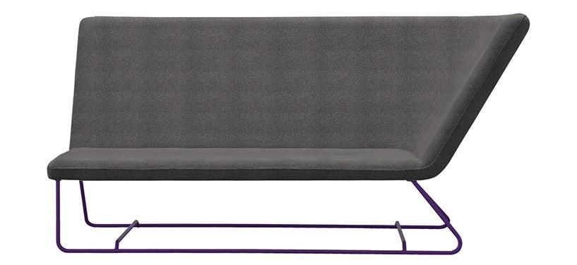 Fermob Ultrasofa Two-seater Sofa · Aubergine/Iris Green