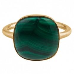 Pernille Corydon Malachite Ring · Guld · 52
