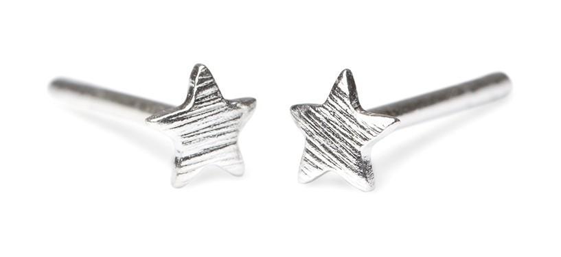 Pernille Corydon Mini Star Earstick · Sølv