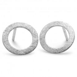 Pernille Corydon Small Open Coin Earstick · Sølv