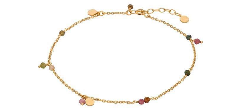 Pernille Corydon Afterglow Pastel Anklet · Guld