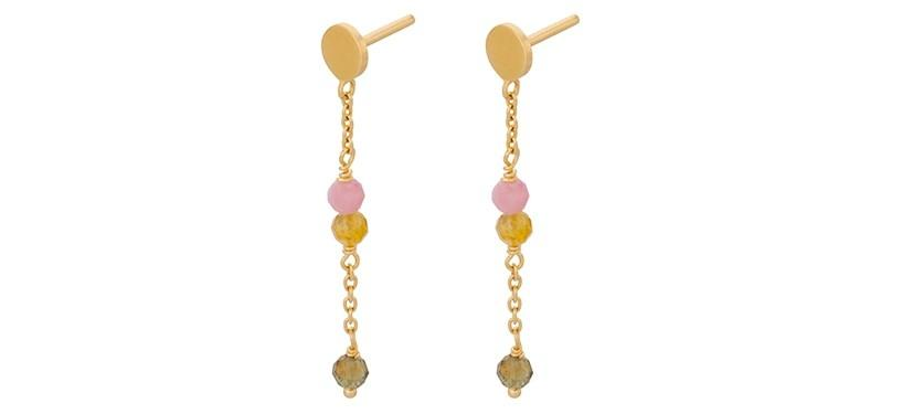 Pernille Corydon Afterglow Pastel Earchains · Guld