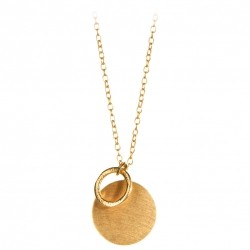 Pernille Corydon Coin & Circle Necklace · Guld