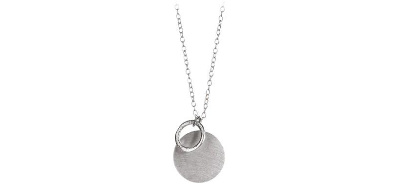 Pernille Corydon Coin & Circle Necklace · Sølv