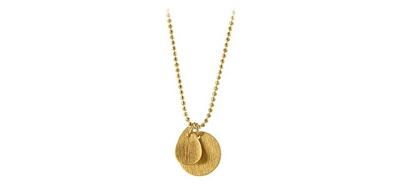 Pernille Corydon Coin & Drop Necklace · Guld