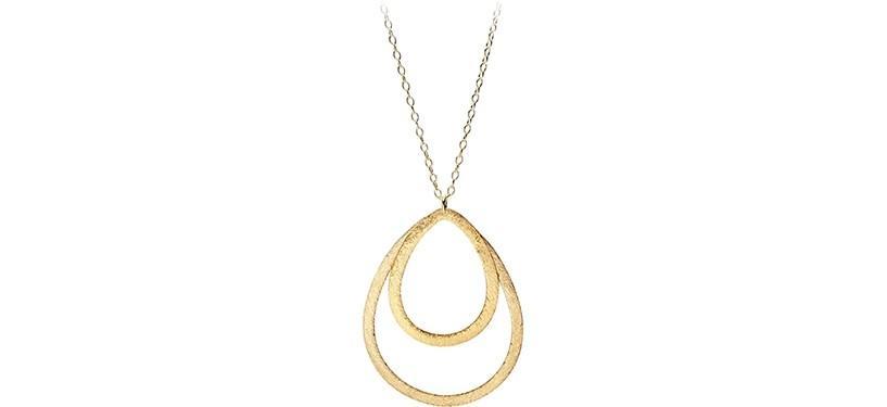 Pernille Corydon Double Drop Necklace · Guld