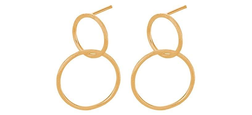 Pernille Corydon Double Earrings · Guld