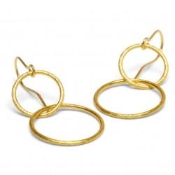 Pernille Corydon Double Plain Ear Hook · Guld
