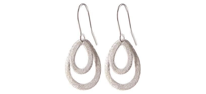 Pernille Corydon Mini Double Drops · Sølv