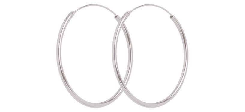 Pernille Corydon Mini Plain Hoops · Sølv
