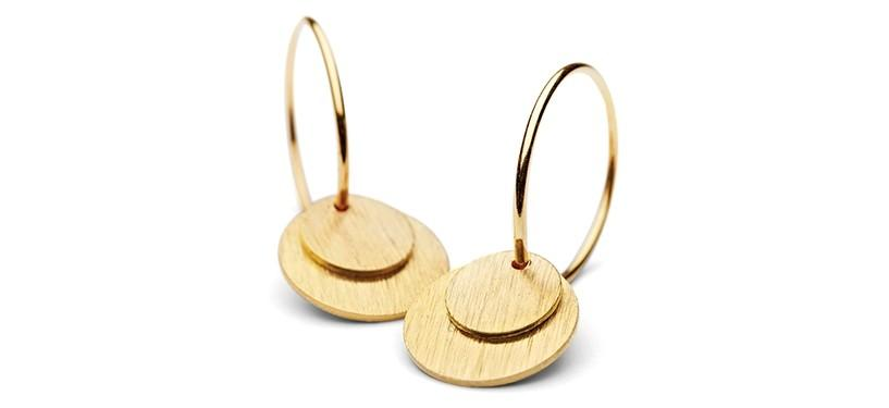 Pernille Corydon Small Coin Earrings · Guld