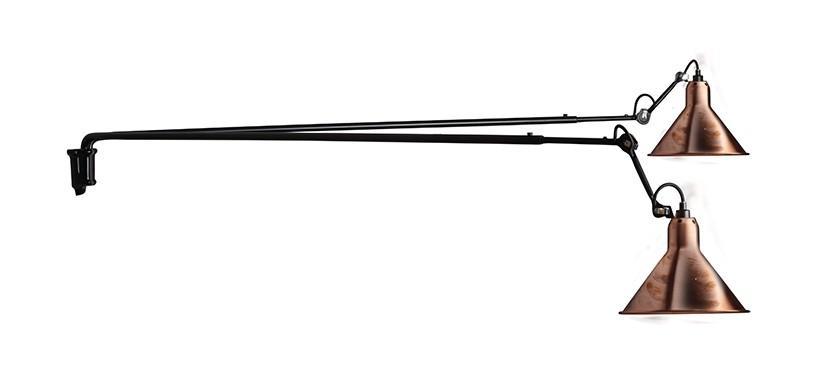 Lampe Gras No. 203 Double · Upoleret kobber