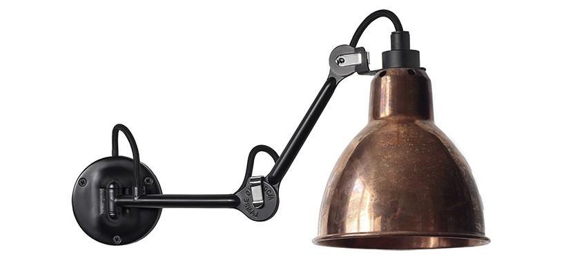 Lampe Gras No. 204 · Upoleret kobber