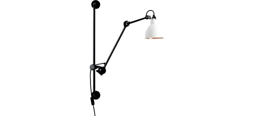 Lampe Gras No. 210 · Hvid/kobber · Rund