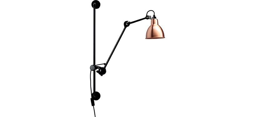 Lampe Gras No. 210 · Kobber · Rund