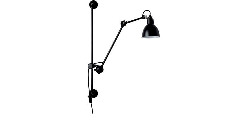 Lampe Gras No. 210 · Sort · Rund