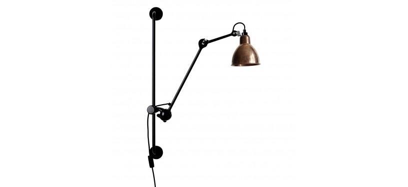 Lampe Gras No. 210 · Upoleret kobber · Rund