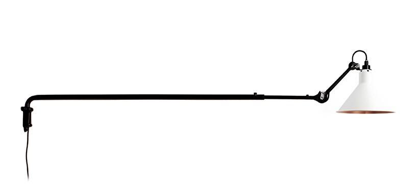 Lampe Gras No. 213 · Hvid/kobber · Rund