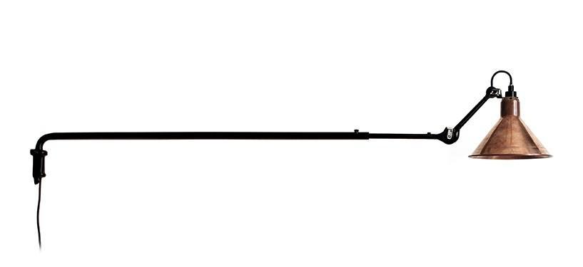 Lampe Gras No. 213 · Upoleret kobber · Rund