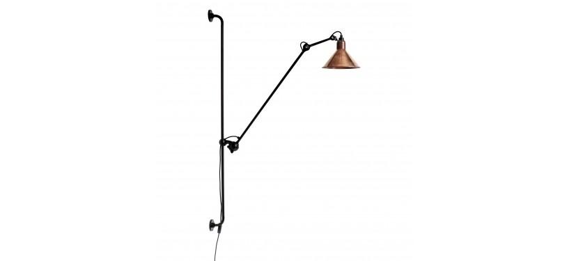 Lampe Gras No. 214 · Upoleret kobber