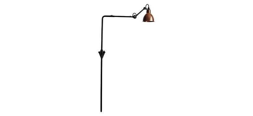 Lampe Gras No. 216 · Upoleret kobber · Rund