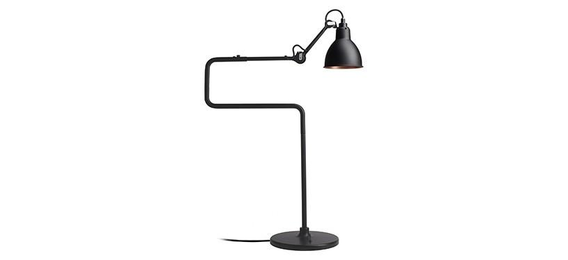 Lampe Gras No. 317 · Sort/kobber · Rund