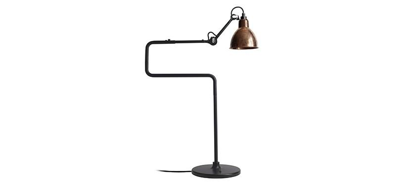 Lampe Gras No. 317 · Upoleret kobber · Rund