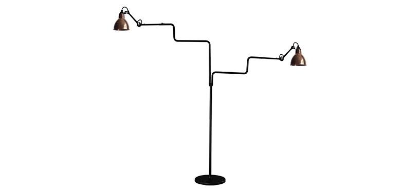 Lampe Gras No. 411 Double · Upoleret kobber