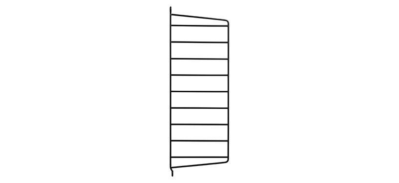 String Væggavl · Sort · 50 x 20 cm. · 1-pak