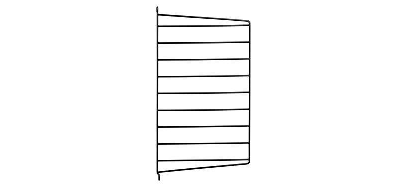 String Væggavl · Sort · 50 x 30 cm. · 1-pak