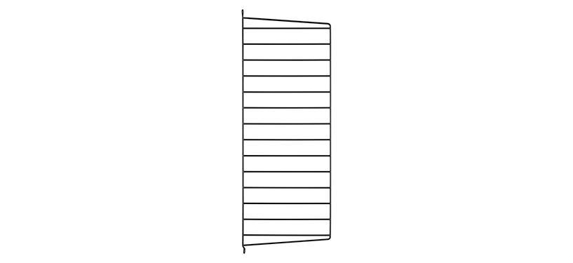 String Væggavl · Sort · 75 x 30 cm. · 1-pak