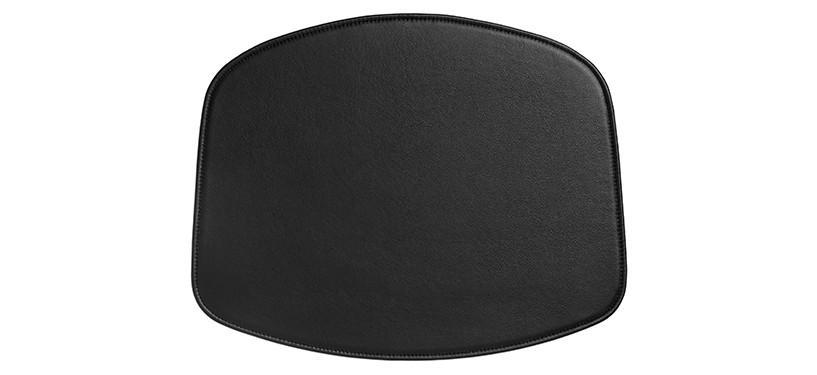 HAY About a Chair sædehynde · Armlæn · Læder sort
