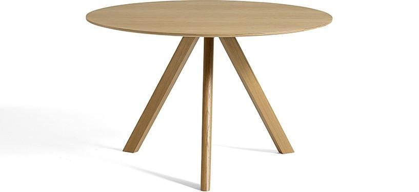 HAY Copenhague Table CPH20 · Ø120 x H74 · Eg klar lak · Eg