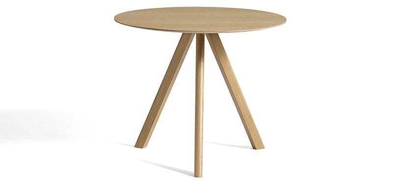 HAY Copenhague Table CPH20 · Ø90 x H74 · Eg klar lak · Eg