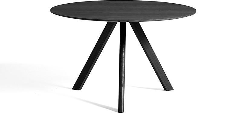 HAY Copenhague Table CPH20 · Ø120 x H74 · Eg sortbejdset · Eg