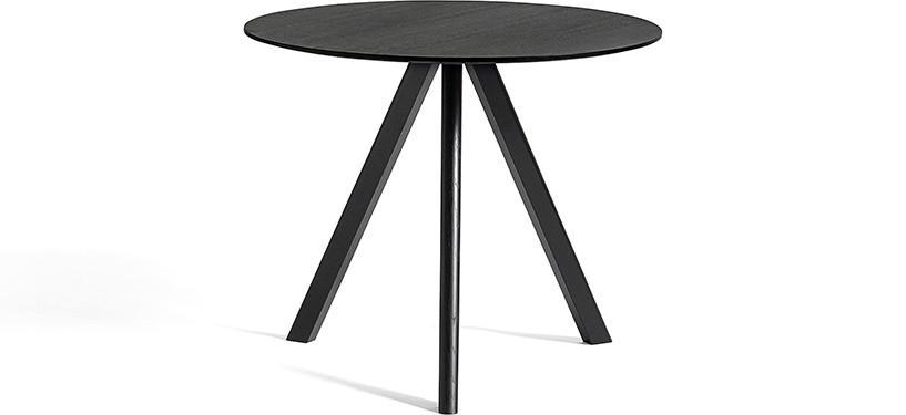 HAY Copenhague Table CPH20 · Ø90 x H74 · Eg sortbejdset · Eg