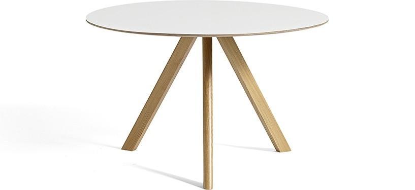 HAY Copenhague Table CPH20 · Ø120 x H74 · Eg klar lak · Laminat