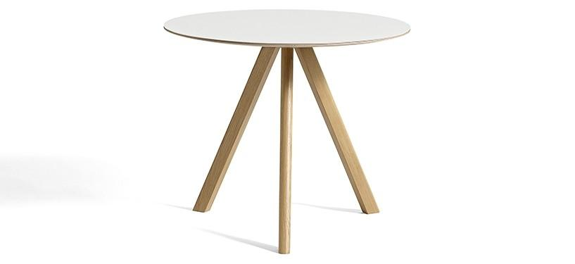 HAY Copenhague Table CPH20 · Ø90 x H74 · Eg klar lak · Laminat