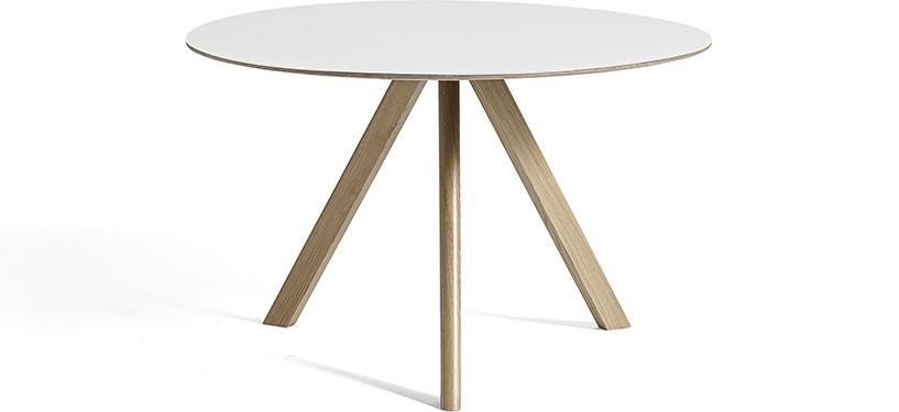HAY Copenhague Table CPH20 · Ø120 x H74 · Eg sæbebehandlet · Laminat